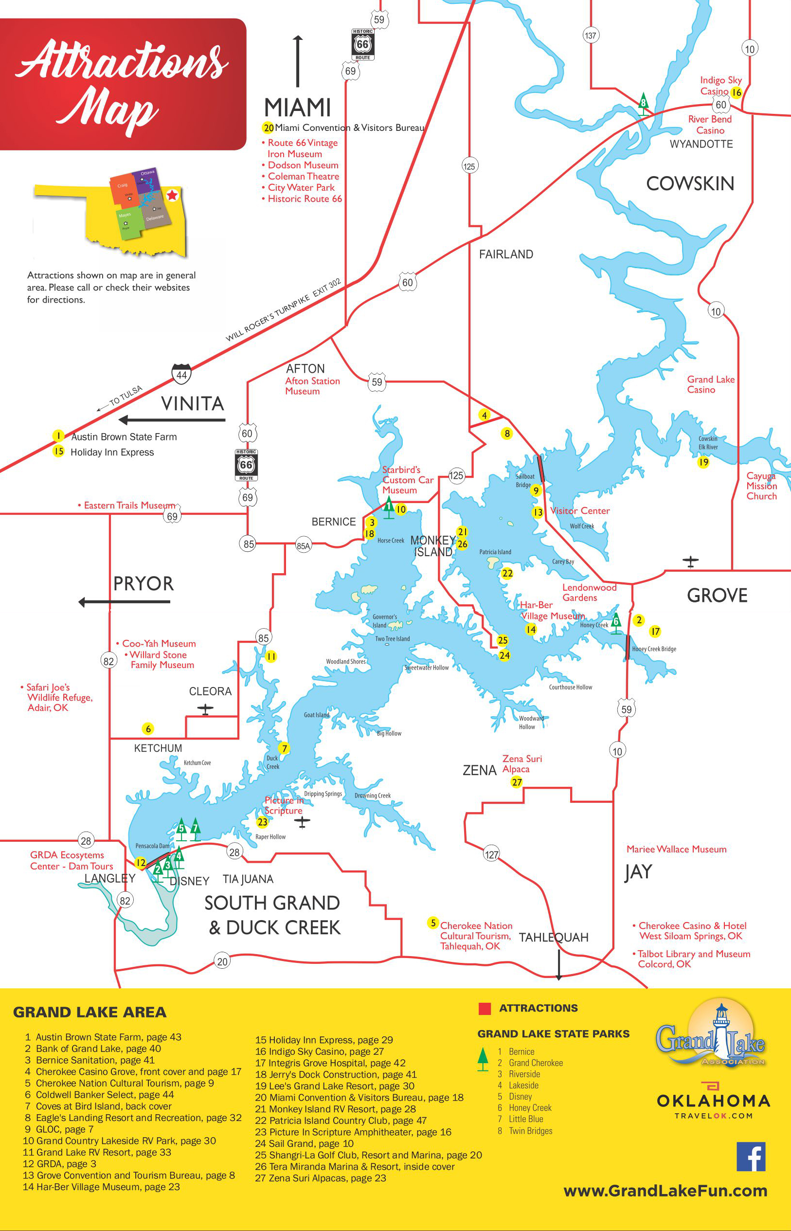 Fabulous Map - Grand Lake Association JQ46